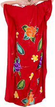 Load image into Gallery viewer, Women's Beachwear Swimwear Rayon Cover ups Aloha Swimsuit Caftans Multi Red
