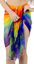 Load image into Gallery viewer, la-leela-beach-bikini-cover-up-wrap-women-sarong-multicolor-one-size
