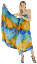 Load image into Gallery viewer, LA LEELA Swimsuit Cover-Up Sarong Beach Wrap Skirt Hawaiian Sarongs for Women Plus Size Short Half Mini I