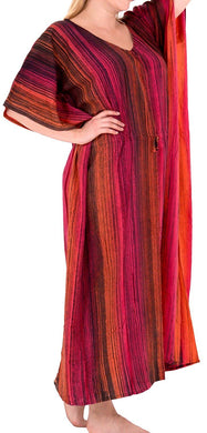 Women's Tie Dye Casual Sleeveless Rayon Casual Caftan Multi Cover up Pink