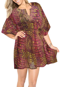 LA LEELA Bikini Swimwear Swimsuit Beach Cover ups Women Summer Dresses Printed