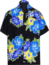 Load image into Gallery viewer, la-leela-shirt-casual-button-down-short-sleeve-beach-shirt-men-aloha-pocket-214