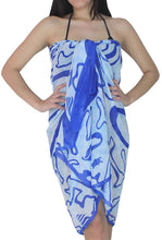 Load image into Gallery viewer, LA LEELA Women Beachwear Bikini Wrap Cover up Swimsuit Sarong Dress 20 ONE Size