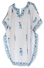 Load image into Gallery viewer, la-leela-rayon-solid-womens-kaftan-kimono-nightgown-beachwear-cover-up-dress