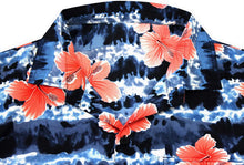 Load image into Gallery viewer, LA LEELA Hawaiian Shirt for Men Short Sleeve Front-Pocket Beach Palm Tree Blue