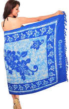 Load image into Gallery viewer, la-leela-soft-light-beach-women-wrap-sarong-printed-72x42-bright-blue_6252