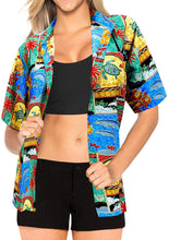 Load image into Gallery viewer, top-women-hawaiian-shirt-beach-blouses-tank-casual-aloha-boho-holiday-loose-fit