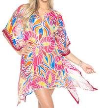 Load image into Gallery viewer, LA LEELA Bikini Swim Beach wear Swimsuit Cover ups Womens Caftan Dress Printed