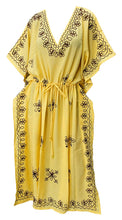 Load image into Gallery viewer, LA LEELA Rayon Solid 2 Women's Kaftan Kimono Nightgown Dress Beachwear Cover up