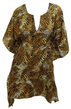 Load image into Gallery viewer, la-leela-soft-fabric-printed-swimwear-women-cover-up-osfm-8-14-m-l-brown_2256