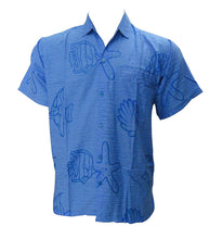 Load image into Gallery viewer, la-leela-shirt-casual-button-down-short-sleeve-beach-shirt-men-pocket-brasso-144