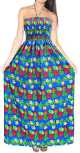 Load image into Gallery viewer, la-leela-3-in-1-vintage-floral-halter-neck-dress-long-maxi-beach-skirt-women