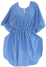 Load image into Gallery viewer, womens-short-casual-maxi-dress-night-gown-kaftan-beachwear-dress-sleepwear