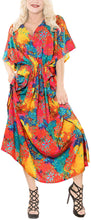 Load image into Gallery viewer, la-leela-womens-nightgown-kaftan-style-beachwear-bathing-suit-cover-up-dress