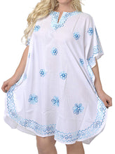 Load image into Gallery viewer, la-leela-rayon-solid-womens-caftan-kimono-nightgown-dress-beachwear-cover-up