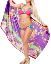 Load image into Gallery viewer, LA LEELA Beach Bikini Cover up Wrap Women Bathing Suit Sarong Jacquard ONE Size