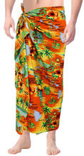 Load image into Gallery viewer, Beach Wear Mens Sarong Pareo Wrap Cover ups Bathing Suit Bamboo Towel Swimwear