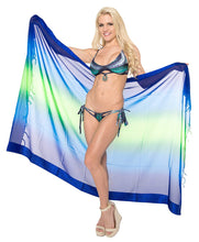 Load image into Gallery viewer, LA LEELA Women's Beach Bikini Cover up Wrap Sarong Jacquard ONE Size