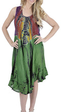 Load image into Gallery viewer, la-leela-womens-sleeveless-loose-casual-swing-beach-sundresses-kaftan-cover-up-rayon-tie-dye-h