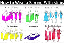 Load image into Gallery viewer, LA LEELA Womens Beach Swimsuit Cover Up Sarong Swimwear Cover-Up Wrap Skirt Plus Size Large Maxi GB