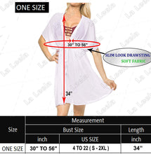 Load image into Gallery viewer, LA LEELA Bathing Suits Swim Beach Bikini Wear Swimsuit Cover up for Women Solid