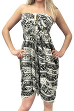 Load image into Gallery viewer, la-leela-soft-light-resort-scarf-deal-dress-sarong-printed-72x42-black_5599