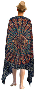 LA LEELA Men Sarong Swimwear Beachwear Wrap Swimsuit Pareo Cover up Bathing Suit