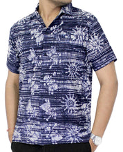Load image into Gallery viewer, LA LEELA Shirt Casual Button Down Short Sleeve Beach Shirt Men Aloha Pocket 25
