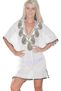 la-leela-bikini-swim-beach-wear-swimsuit-coverup-women-kimono-dress-embroidery