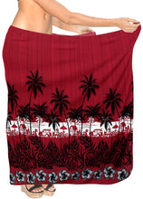 Load image into Gallery viewer, LA LEELA Women Beachwear Sarong Bikini Cover up Wrap Bathing Suit 30 Plus Size