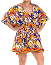 Load image into Gallery viewer, LA LEELA Coverup Beach Bikini Swimwear Swimsuit Caftan Dress Women Printed