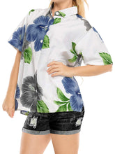Load image into Gallery viewer, la-leela-womens-summer-top-beach-short-sleeve-camp-casual-blouse-beachview