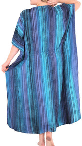 Women's Tie Dye Beachwear Casual Rayon Casual Caftan Multi Cover up Pink