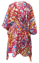 Load image into Gallery viewer, LA LEELA Soft fabric Printed Tassel Swim Cover Up OSFM 8-14 [M-L] Pink_2232