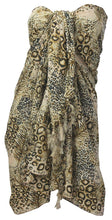 Load image into Gallery viewer, la-leela-soft-light-wrap-pareo-suit-women-sarong-printed-72x42-brown_6168