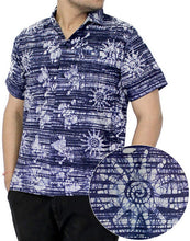 Load image into Gallery viewer, la-leela-shirt-casual-button-down-short-sleeve-beach-shirt-men-pocket-batik-1