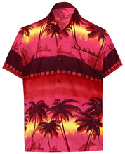 Load image into Gallery viewer, LA LEELA Shirt Casual Button Down Short Sleeve Beach Shirt Men Aloha Pocket 173