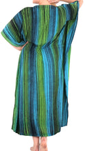 Load image into Gallery viewer, Women's Tie Dye Beachwear Sleeveless Rayon Casual Caftan Multi Cover up Green