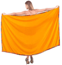 "Load image into Gallery viewer, LA LEELA Rayon Swimsuit Bathing Beach Wrap Sarong Solid 78""X42"" Orange_6609"