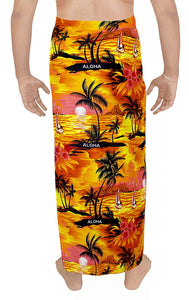 LA LEELA Bathing Suit Swimwear Swimsuit Sarong Wrap Cover ups Plain Beachwear Mens