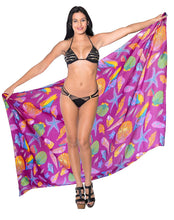 Load image into Gallery viewer, LA LEELA Women Beachwear Bikini Coverup Wrap Pareo Swimwear Sarong 25 OneSize