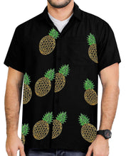 Load image into Gallery viewer, LA LEELA Shirt Casual Button Down Short Sleeve Beach Shirt Men Embroidered 189