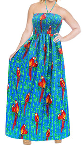 Tube Dress Maxi Skirt Beach Sundress Halter Boho Evening Party Swimsuit Backless