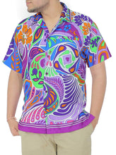 Load image into Gallery viewer, la-leela-shirt-casual-button-down-short-sleeve-beach-shirt-men-aloha-pocket-66