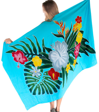 LA LEELA Women's Swimsuit Cover Up Sarong Bikini Swimwear Beach Cover-Ups Wrap Skirt Large Maxi ER