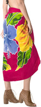 "Load image into Gallery viewer, LA LEELA Rayon Resort Beach Wrap Pareo Swim Sarong Printed 78""X43"" Red_4777"