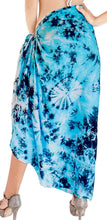 Load image into Gallery viewer, la-leela-hawaiian-beach-sarong-bikini-cover-up-tie-dye-78x43turquoise_4700