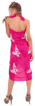 Load image into Gallery viewer, la-leela-rayon-bikini-swimwear-women-wrap-sarong-printed-78x43-pink_4671