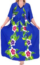 Load image into Gallery viewer, Women's Beachwear Swimwear Rayon Evening Swimsuit Caftan Casual Cover ups Blue