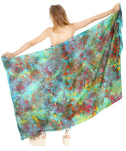 Load image into Gallery viewer, la-leela-resort-scarf-beach-dress-sarong-printed-78x43-turquoise_4401